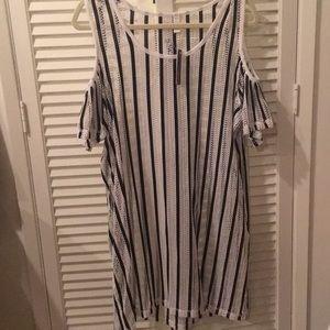 Dresses & Skirts - NIMES, COTE D'AZUR Swimwear Cover-Up White & black